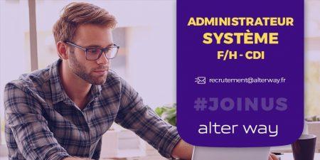 #alterwayrecrute un administrateur système #Web ( F/H) en #CDI à Aix-Marseille. ...