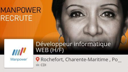 Besoin d'un Développeur #informatique #WEB (H/F) Rochefort, Charente-Maritime , ...