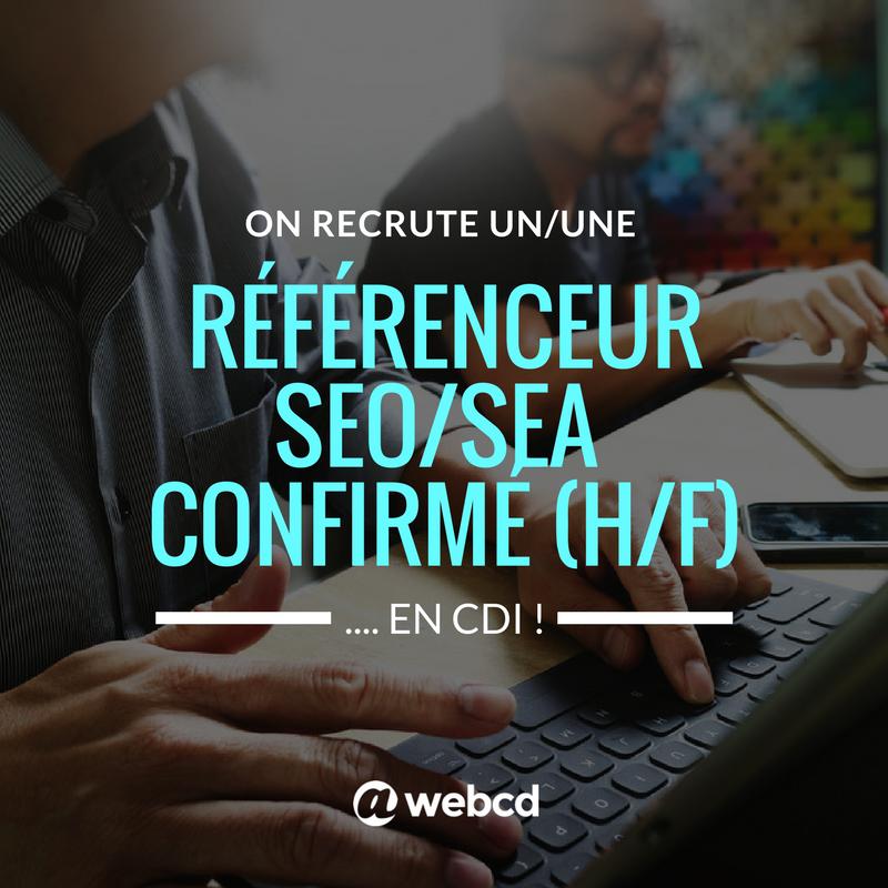 BREAKING NEWS L'agence recherche son nouveau référenceur #SEO/#SEA (H/F) ️On pos...
