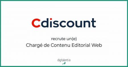 Cdiscount recherche son futur Chargé de Contenu Editorial Web Pourquoi pas vous ...