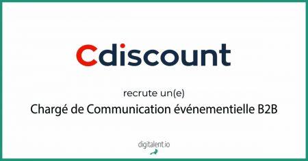Cdiscount recherche un(e) Chargé de Communication événementielle B2B    #Emploi ...