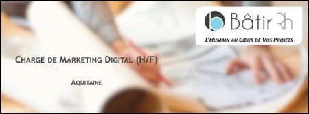 #emploi : @Batir_Rh recherche un #Chargé de #Marketing #Digital (H/F) à #Biarrit...