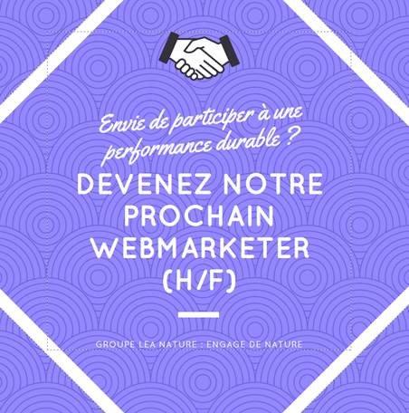 [Emploi] LÉA NATURE recherche un(e) #Webmarketer pour sa boutique en ligne  Pour...