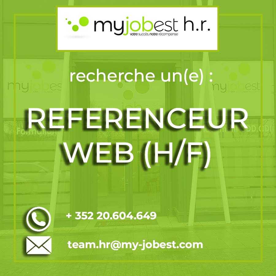 #Emploi Notre agence MyJobest H.R. recherche un(e) Référence Web (H/F), poste à ...