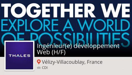 Êtes-vous un(e) #Ingénieur(e) développement #Web (H/F) #job #VélizyVillacoublayF...