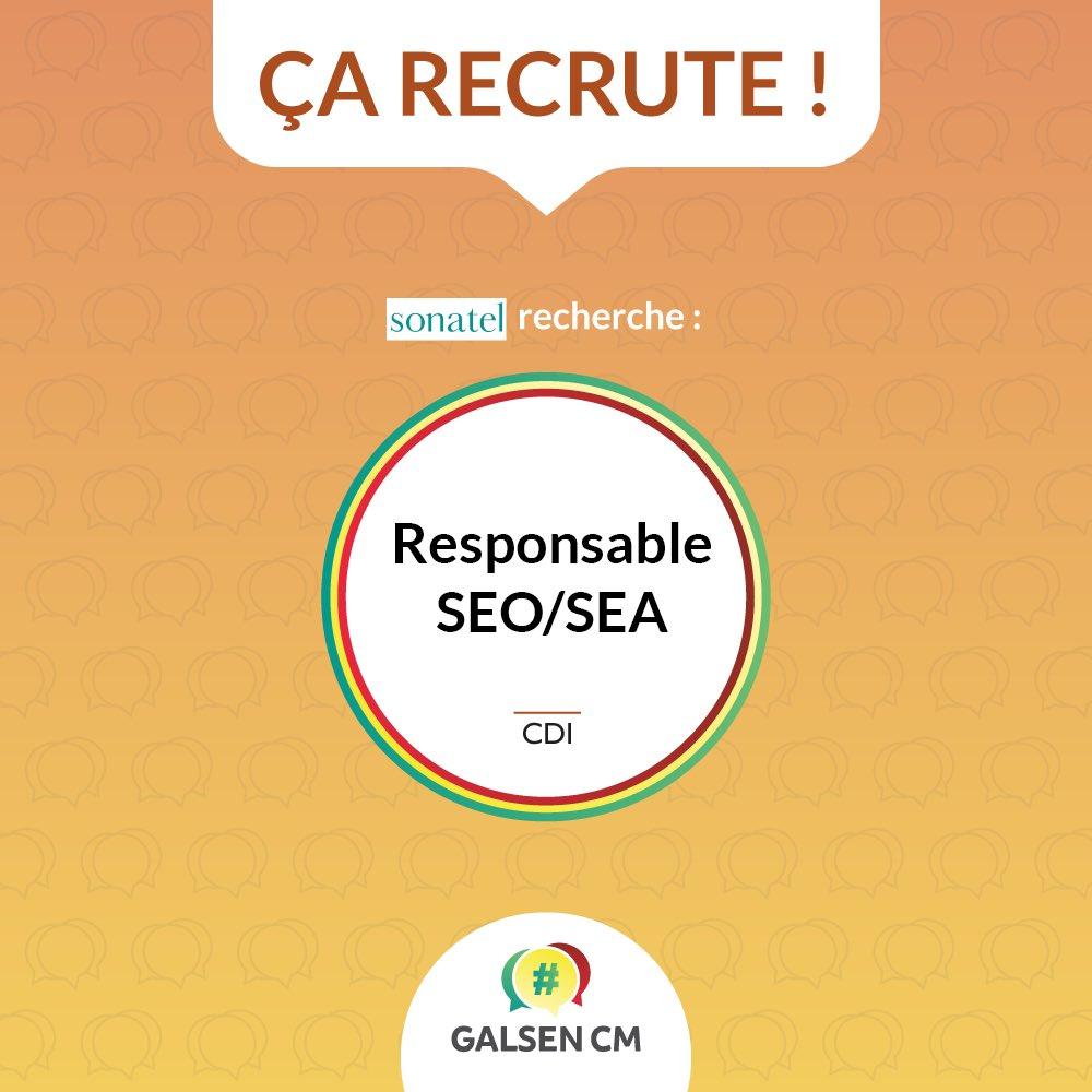 #GalsenCMJob : Le @GroupeSonatel recrute un Responsable SEO/SEA. Vous avez minim...