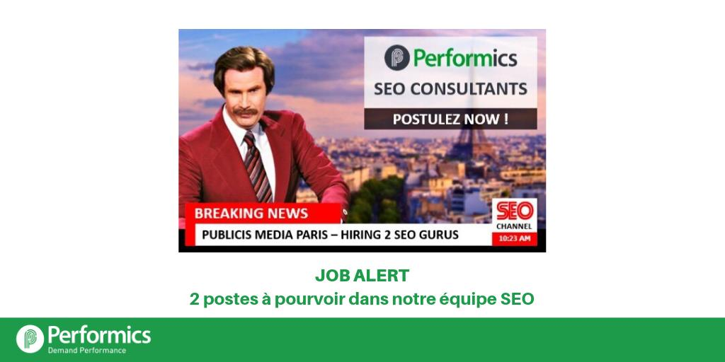 rt performicsfr  job alert chez performicsfr   nous