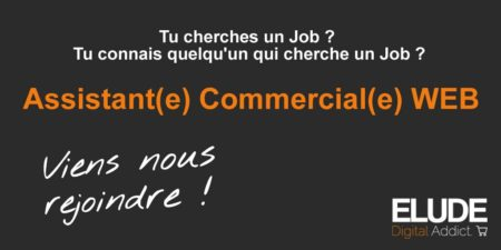 Job ASSISTANT COMMERCIAL WEB (H/F) @elude_fr recrute   #startup #recrutement #An...