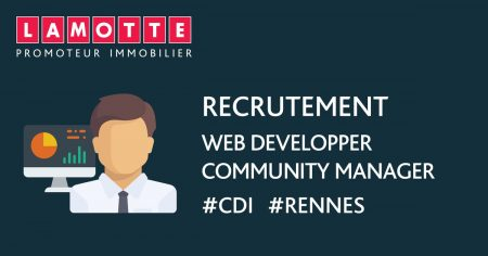 LAMOTTE recrute 1 Web Developper / Community Manager (H/F) en #CDI à #Rennes. #J...