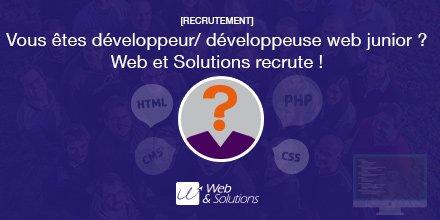 Nous recrutons un #développeur (H/F) #web junior en CDD (6 mois) (CDI possible) ...