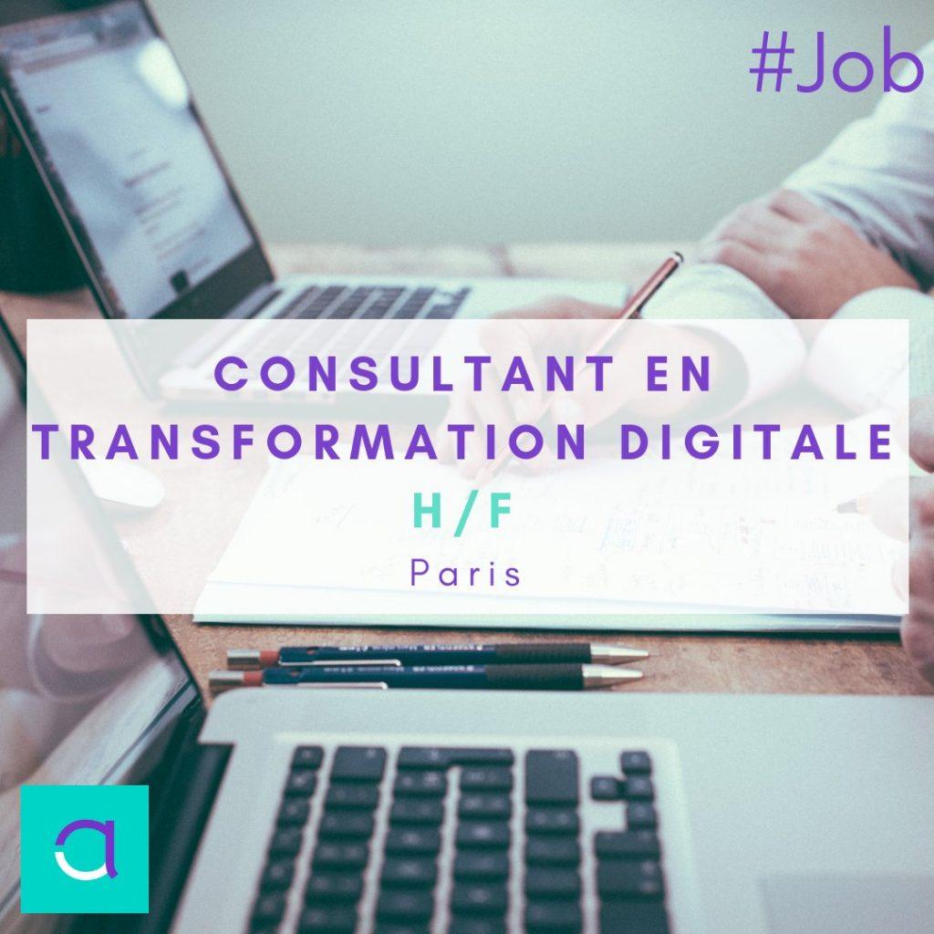OFFRE #EMPLOI : Un poste de Consultant en Transformation Digitale (H/F) ça vous ...