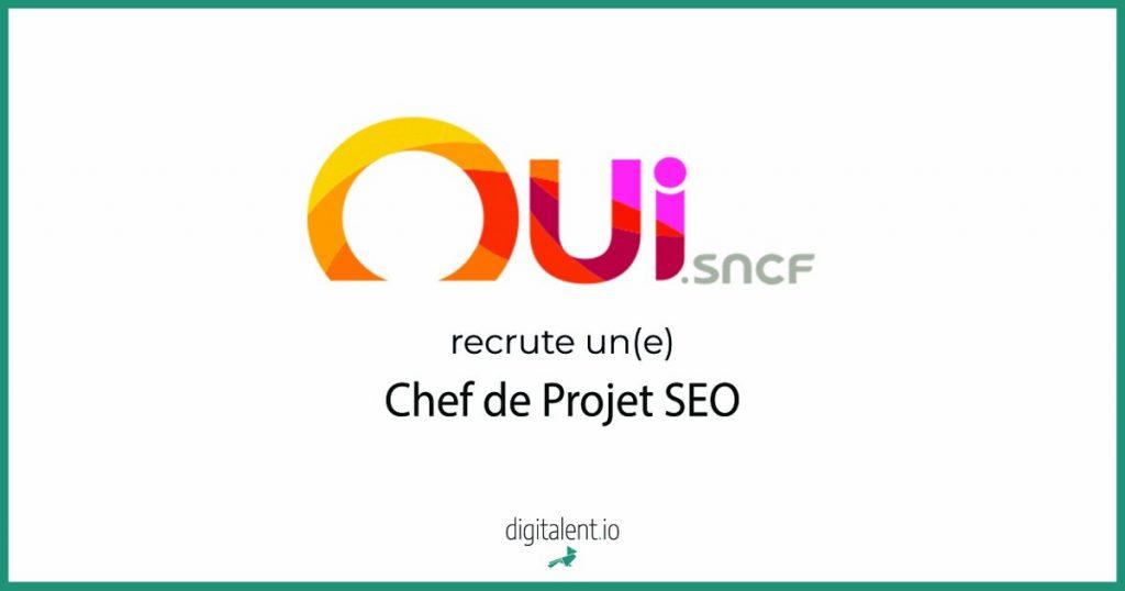 Oui sncf recrute un(e) Chef de Projet SEO  Postulez en cliquant ici    #Emploi #...