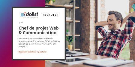 Passionné(e) par le monde du Web et du Marketing online ? Chef de projet #Web & ...