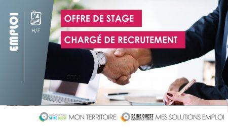 #STAGE - CHARGÉ DE RECRUTEMENT H/F - stage de 6 à 9 mois, pour un cabinet de rec...